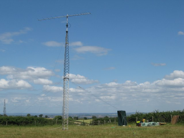 Photograph of 14 Element 2m Yagi at 10m