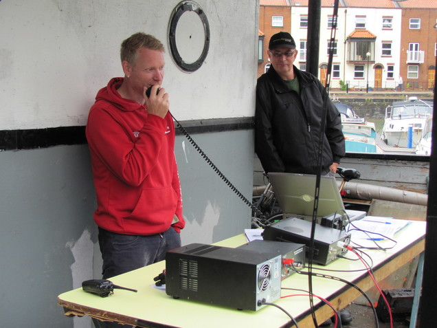 Mark M0SKV operating with Steve M6LWR