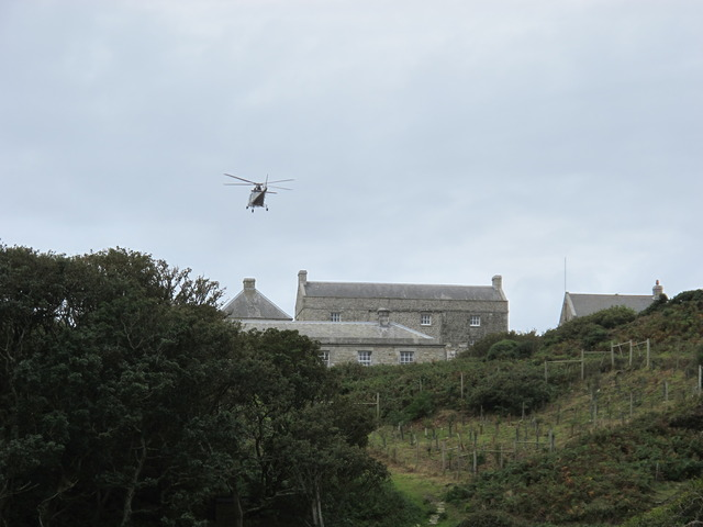 Helicopter over Government House
