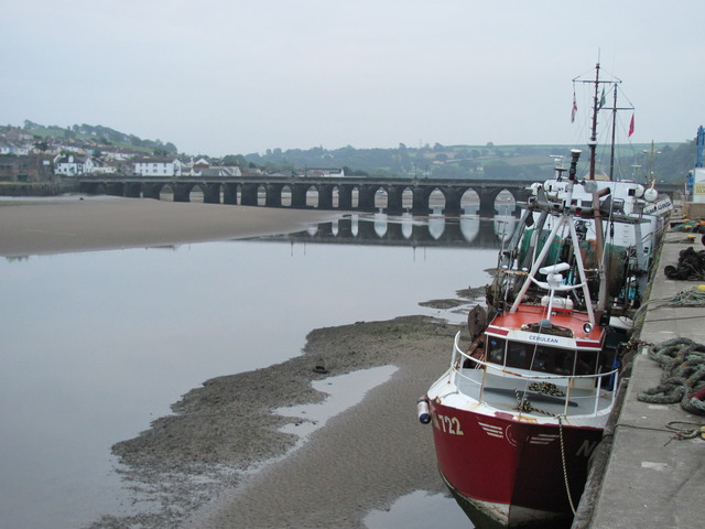 Bideford with the tide out
