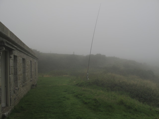 Fog Conceals our 10m Vertical Antenna