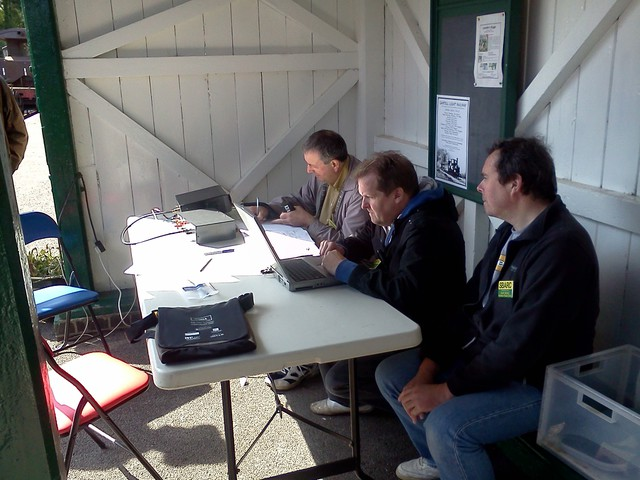 Hear No Evil, See No Evil, Speak No Evil - Peter G0DRX operates with Chris M6CXB logging and Julian M6JCE observing