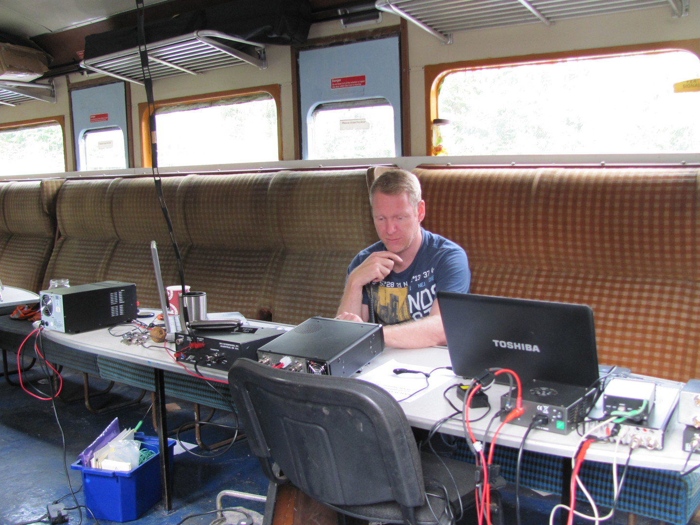 Mark M0SKV Operating GB0SDR
