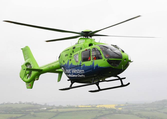 GWAAC Helicopter in Flight