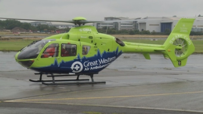 GWAAC Helicopter on the ground