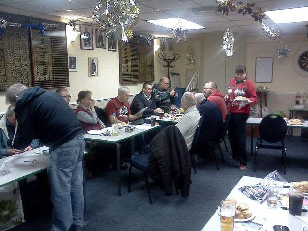 South Bristol Amateur Radio Club members enjoying the Christmas Social